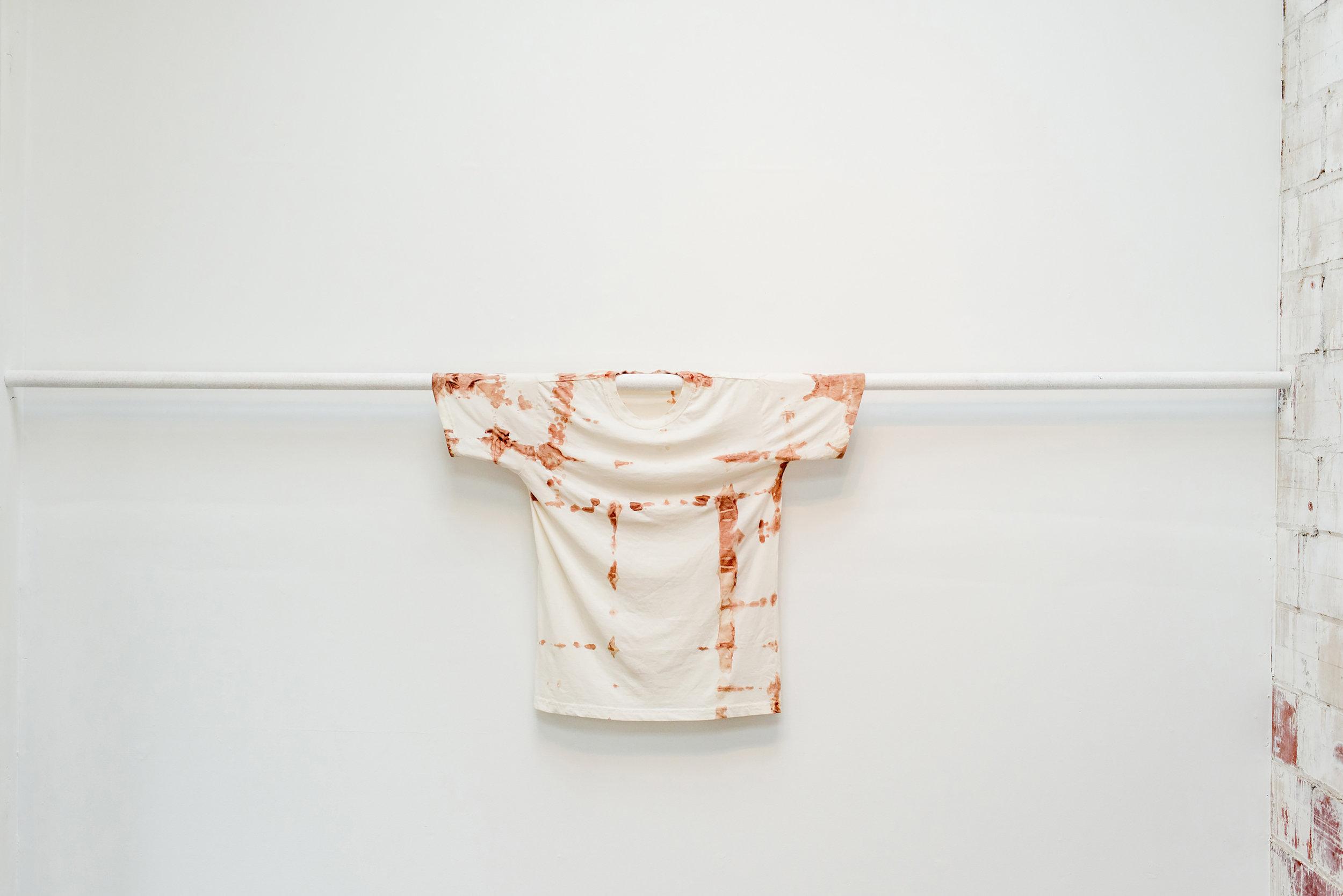 Humans , 2017. T-shirt, human blood.
