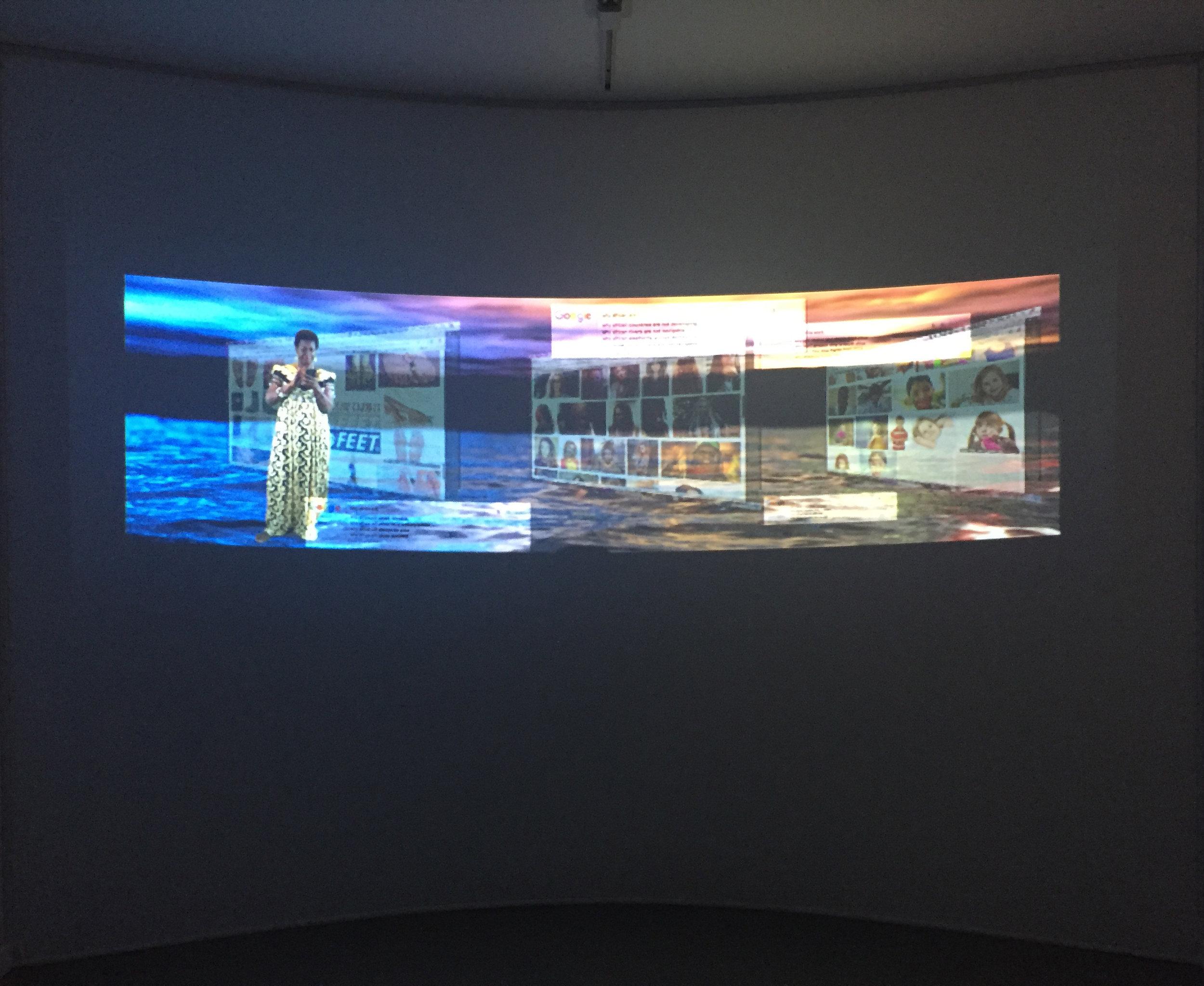 Tabita Rezaire  Still, Deep Down Tidal , 2017. Digital Video, 18m44s.