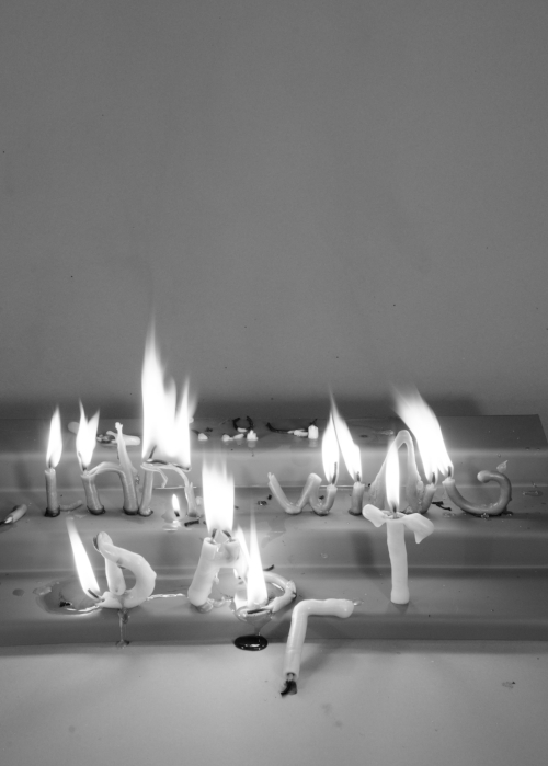 Throwing Salt , 2018. Candle Poems. Limited Edition Digital print.