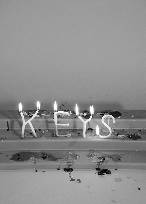 Keys , 2018. Candle Poems. Limited Edition Digital print.