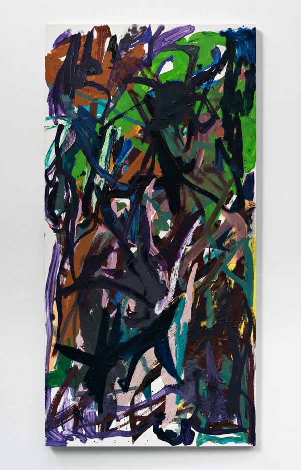 Jeremy Ehling, Untitled, 2018. Available at our Online Auction.  4 x 2 feet. Oil on panel  Price : $1500.  Opening Bid : $500