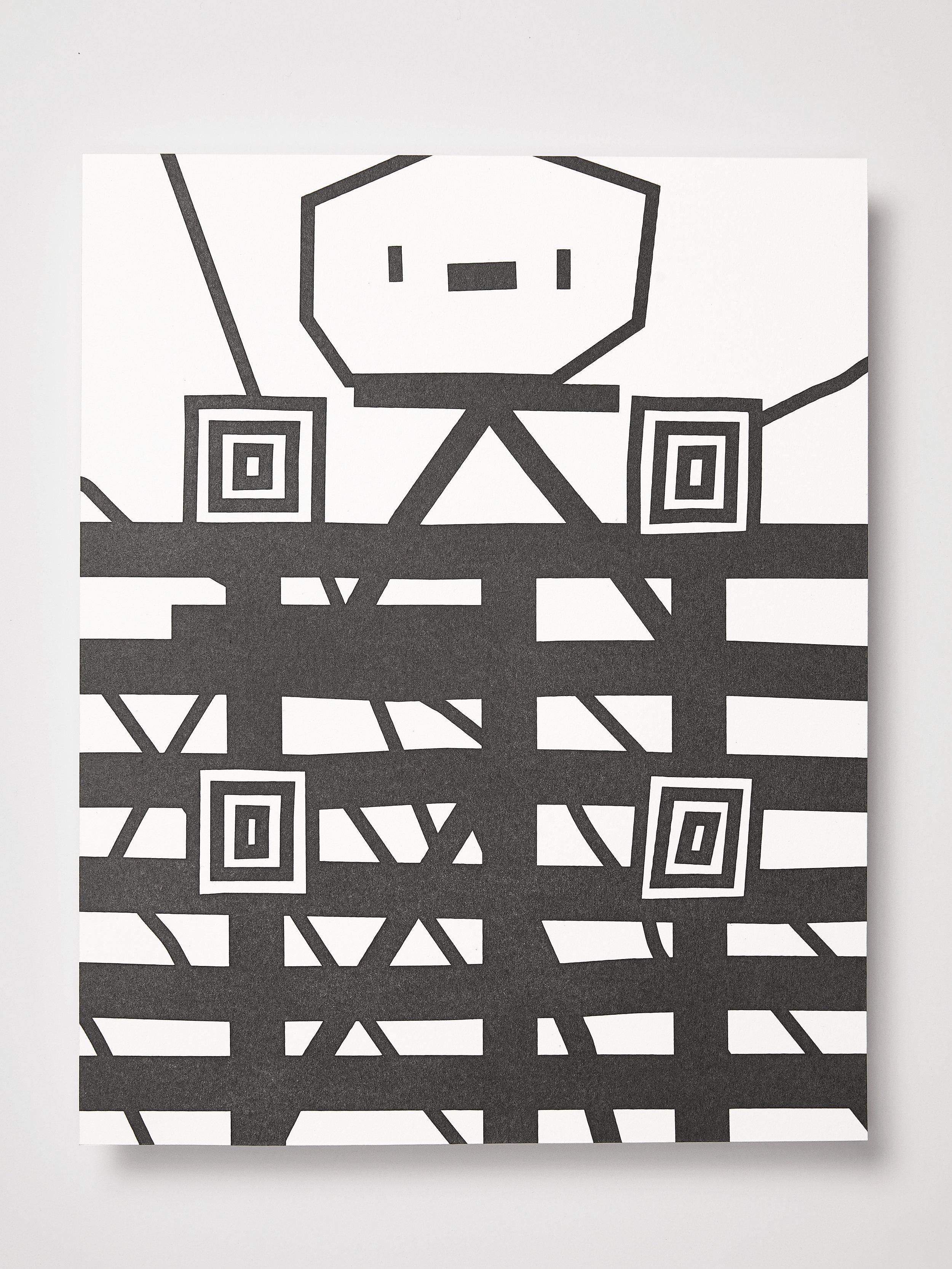 Sean Talley, sup3rMind45, 2018.  Graphite powder on paper. 8 x 10 inches.