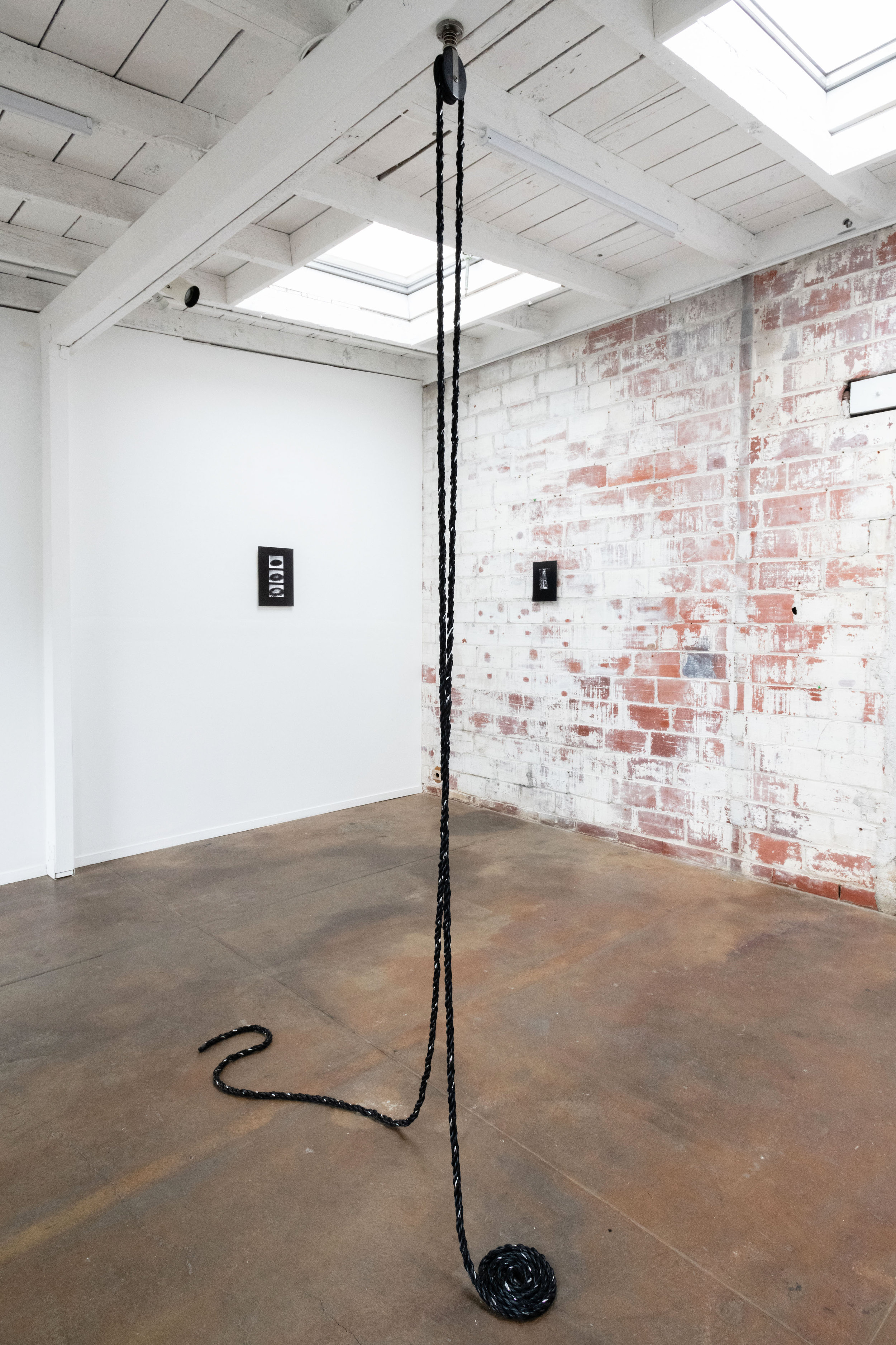 Dionne Lee,  Running, rigging, wading, 2019.  Exhibition view.