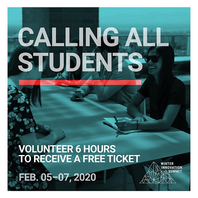 Calling all students! Volunteer six hours at the #2020WIS in exchange for a ticket to a convening of elected officials, impact investors, policymakers, foundations, nonprofits, data scientists, social entrepreneurs, and academics who share a commitment to innovation in the social sector. For more info or to sign up, visit thelink in bio and get ready to #movemountains.