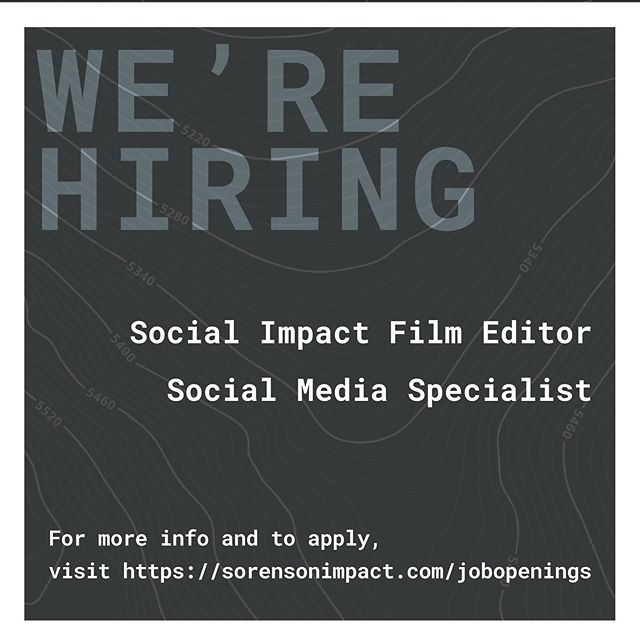 Calling out to all students who are motivated, impact-driven, and have expertise in film editing or social media management, we are offering two incredible opportunities for you! Undergraduate, graduate, and post-doctorate fellows from all universities (including @saltlakecc) are encouraged to apply. To become a part of the amazing student fellow program at the Sorenson Impact Center visit the link in bio to apply!