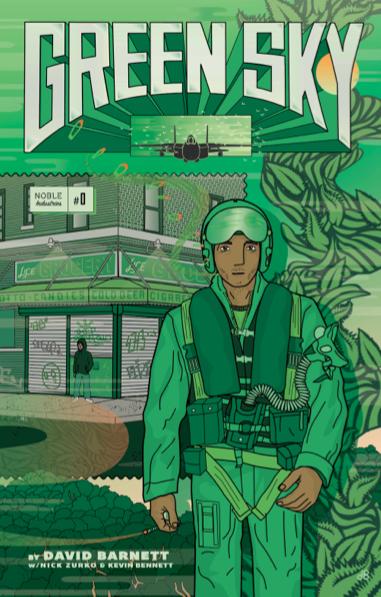 Green Sky Issue #0 , cover art by David Barnett.