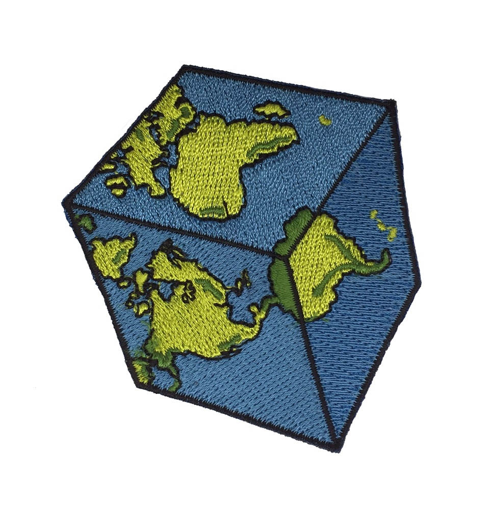 Cubic Earth Patch  via Strike Gently Co/
