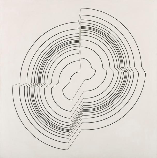 Op art pioneer Bridget Riley, Broken Circle  (1963)