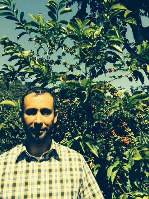 Aharon Vaknin in a coffee farm in Boquete, Panama. The man behind the beard!