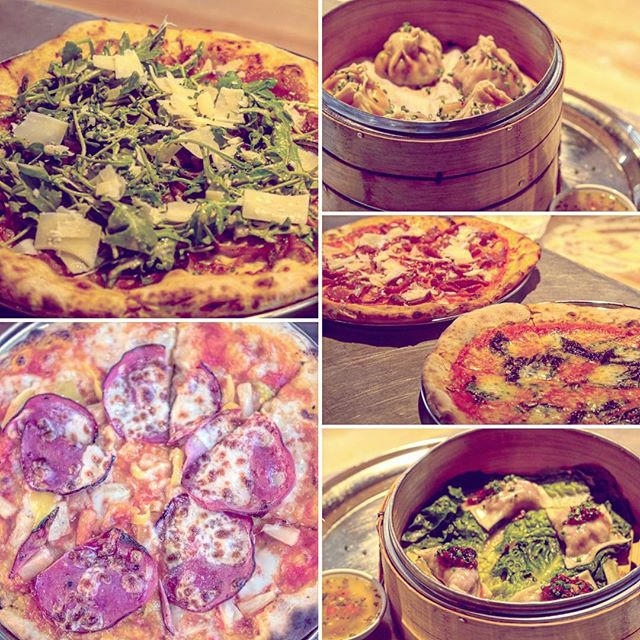 What are you craving right now? #pizza #dumplings  #chickenpho #porkandshrimp #hawaiianpizza #margherita #pepperoni
