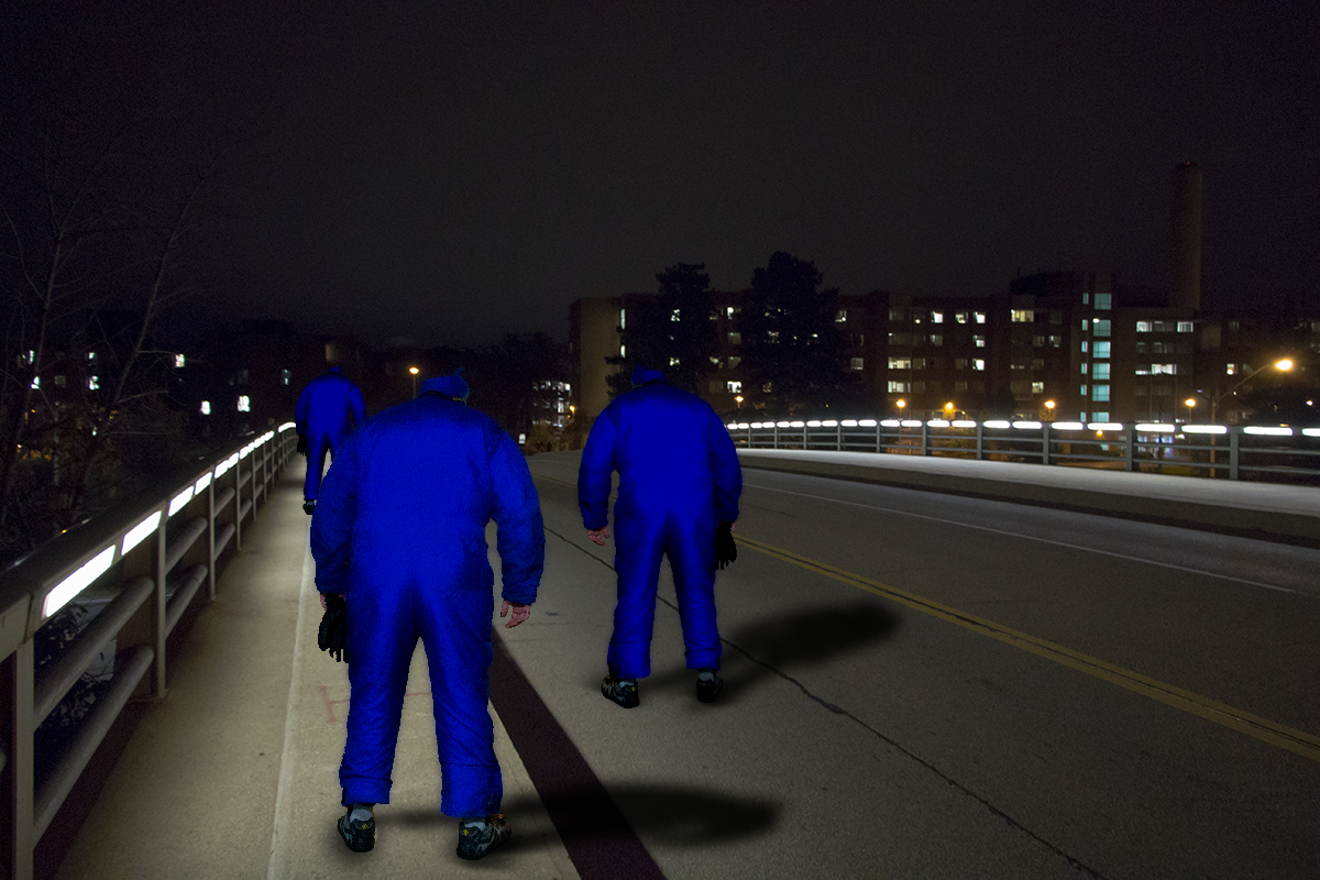 Title:  No Standing Zone  About:  Some DavClones (#001472 through to #001474) were put into StandBy mode during transport by accident. Fortunately, they had their suit gloves detached or their phase suits would have activated accidentally.