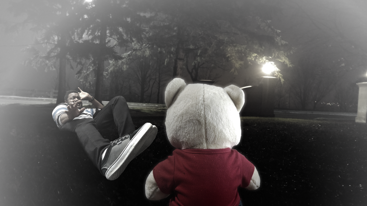 Title:  Here's Teddy  About:  Rob encounters the evil leader of the stuffed animals, Teddy.