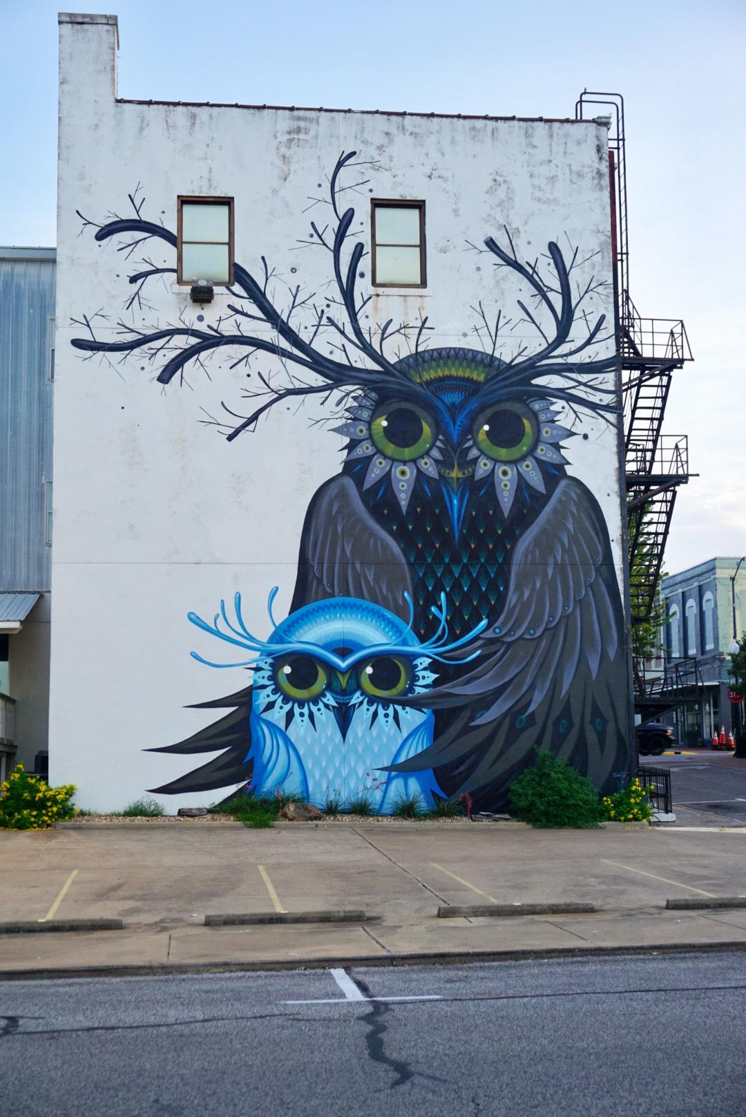 Brenham Texas Owl Mural