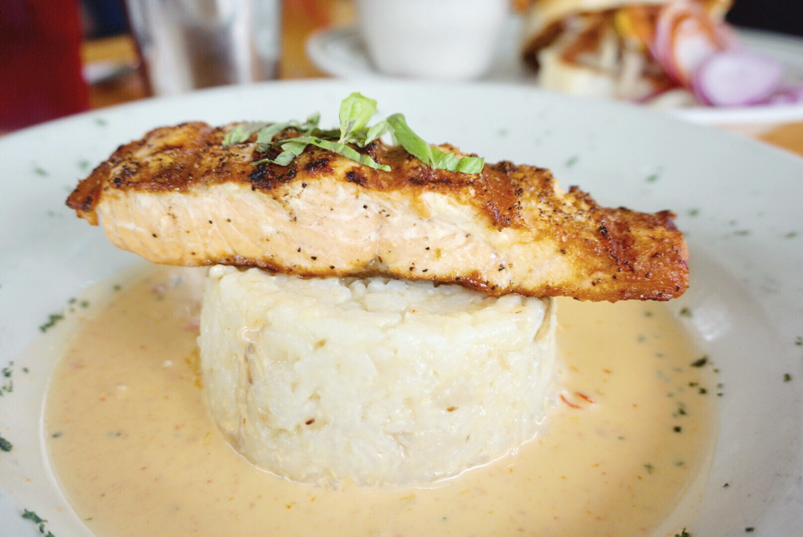 Pan Seared Salmon Lola Diner Houston Texas