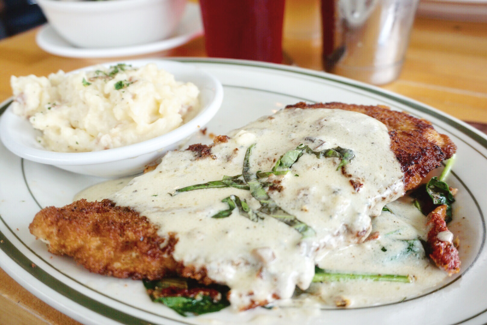 Chicken Pecorino Lola Diner Houston Texas