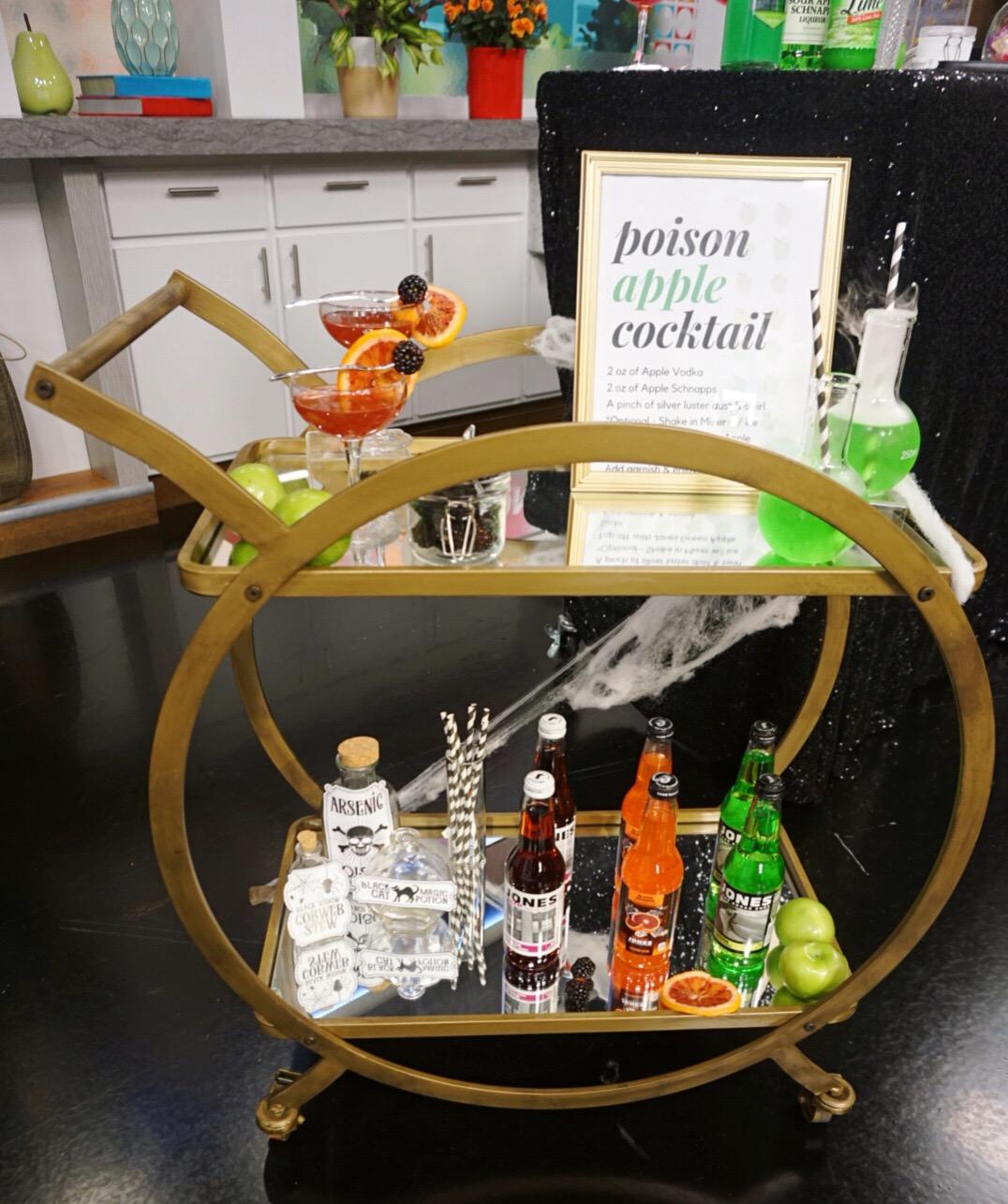 Halloween Booze Cart
