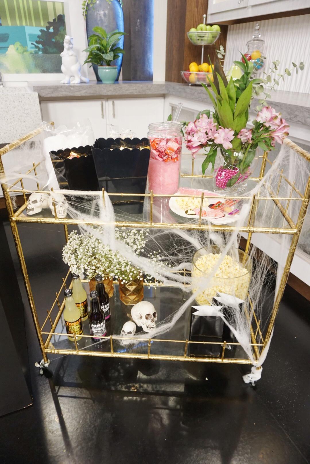 Halloween Candy Cart