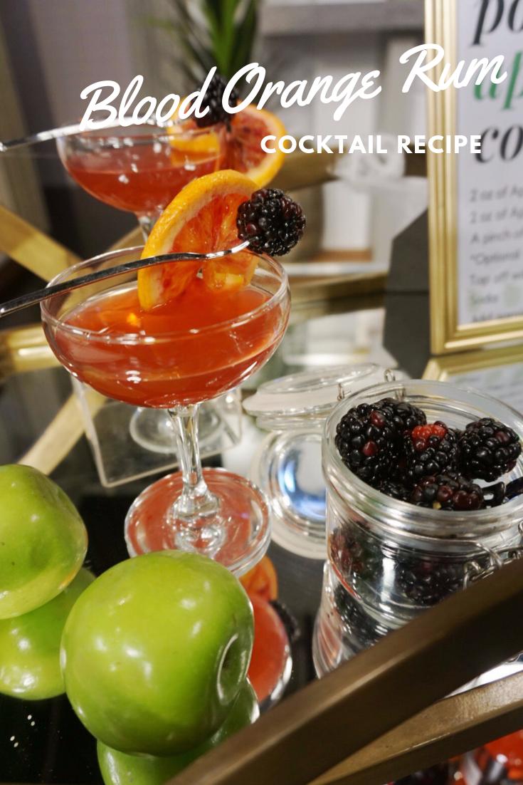 Blood Orange Rum Cocktail Halloween