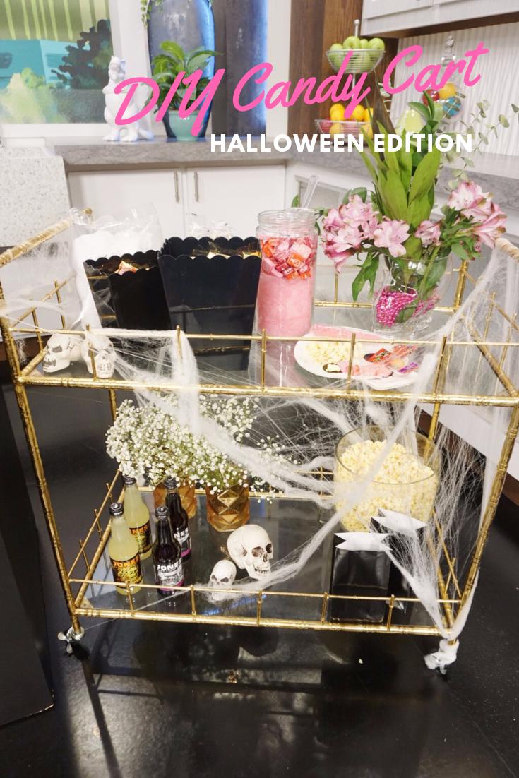 Halloween Candy Cart Bar Cart Style