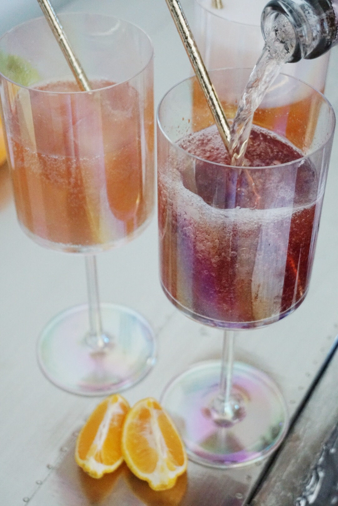 Create a Mimosa Bar with Juice Cubes