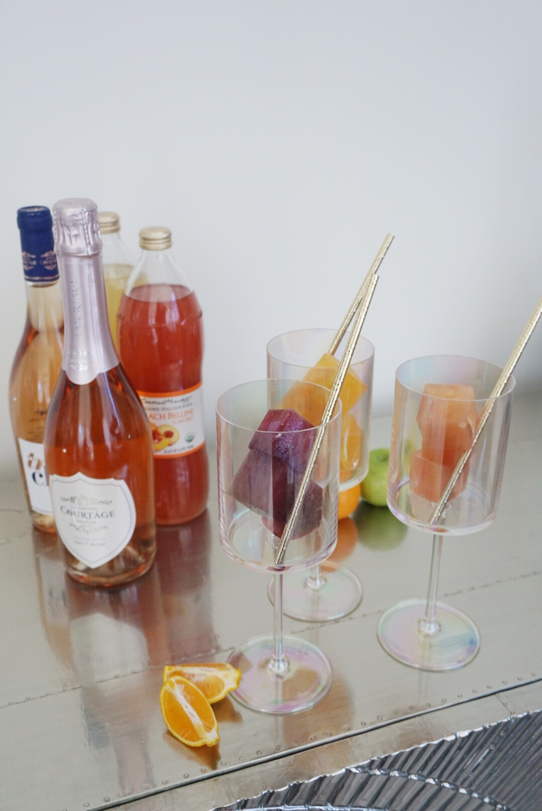 How to Create a Mimosa Bar with Juice Cubes