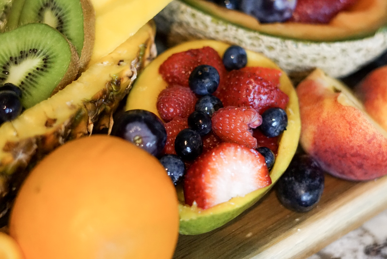 Colorful Fruit Bowls DIY - Toast from the Host