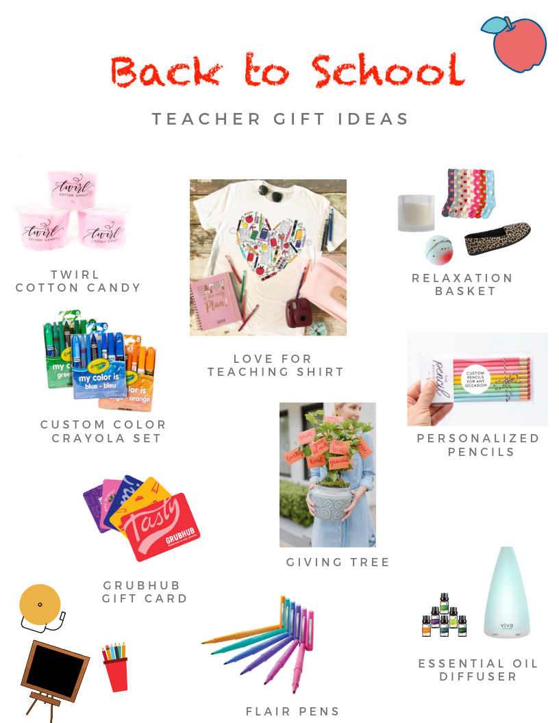 Back to School Teacher Gift Ideas - Toast from the Host
