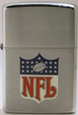This 1974 Zippo with the NFL logo was produced to for the 1975 Super Bowl IX in which the Pittsburgh Steelers defeated the Minnesota Vikings 16-6.