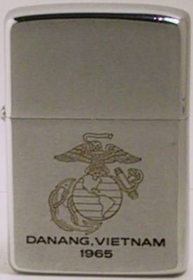1965 factory-engraved Zippo with the USMC logo and Danang, Vietnam.