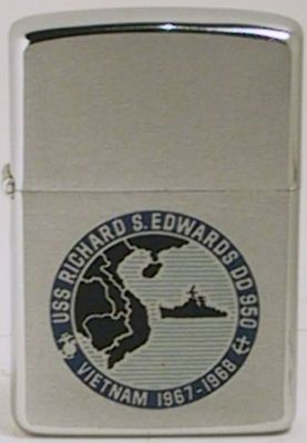 USS Richard S. Edwards DD 950 destroyer on a 1967 Zippo