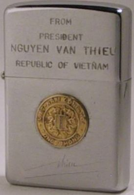 1968 Zippo presentation lighter from President  Nguyen Van Thieu -Republic of Vietnam