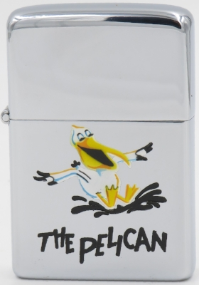 "Rare 1956 Town & Country Zippo with ""The Pelican"""