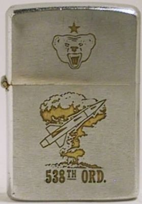 1966 Zippo for the 538th Ordnance Company which was stationed in South Korea. Note the Russian Bear with the red star on lid