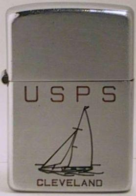 1946-1947 line-drawn sailboat promoting USPS Cleveland