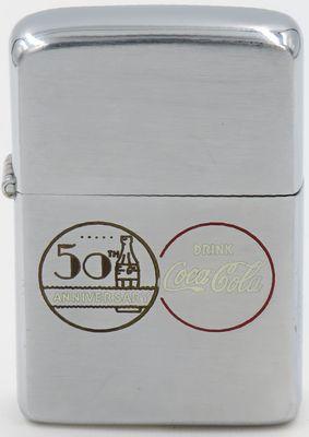 This 1956 Coke Zippo commemorates the 50th Anniversary of the Coca-Cola Company