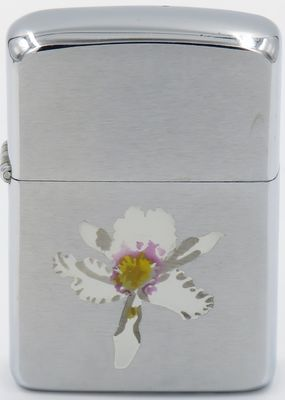 1961 Town & Country Zippo with an Orchid.   T&C engravings on Zippos with matte finishes are unusual