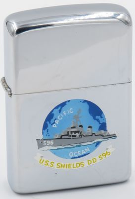 1957 Town & Country Zippo for the destroyer USS Shields