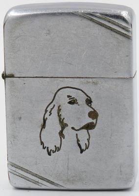 1937-41 Zippo line drawn Sports Series Dog