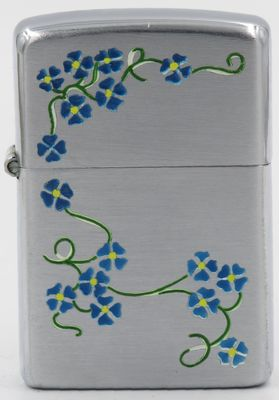 1946-47 Town & Country Zippo with blue morning glories