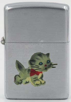 Rare 1946-47 Town & Country Zippo with a cute kitten