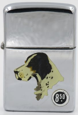1949-51 Zippo with Town & Country Setter.  The lighter has the original $8.50 price sticker
