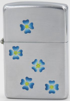 1950-51 Town & Country Zippo with blue morning glories