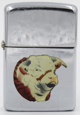 1951 Town & Country Zippo with cow's head