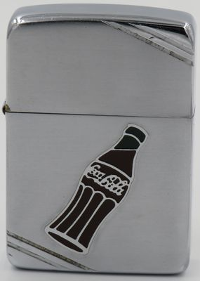 Rare 1940 Zippo with a Metallique Coca-Cola bottle