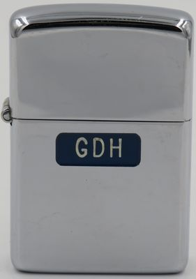 "1946-47 high polish Town & Country Zippo with the intials ""GDH"", supposedly the Initials of Dale Hutton, the head of Zippo Mfg Co's engraving department"