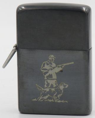 1952 loss proof gunmetal Hunter with Dog.JPG