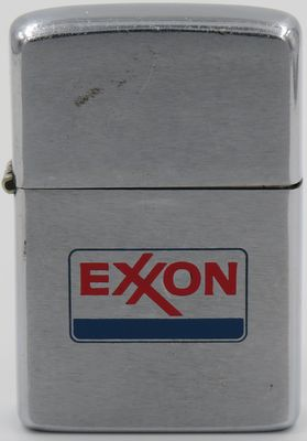 1974 Zippo with the Exxon logo. Exxon was the brand name of oil and natural resources company known as Standard Oil Company of New Jersey prior to 1972