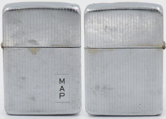 1938-39 Engine turned Chromed brass initials MAP 2.JPG
