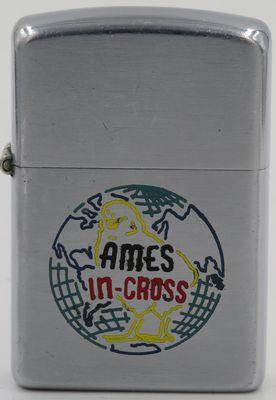 "1952-53 Zippo advertising ""Ames In-Cross"" a hybrid poultry breeding company in Iowa"