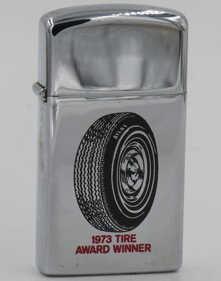 1973 slim Zippo - Atlas 1973 Tire Award Winner